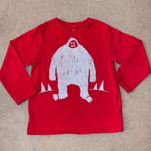 Boys 4T Red Long Sleeve Top